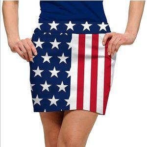 NWT Loudmouth Stars & Stripes Women's Skort 🇺🇸